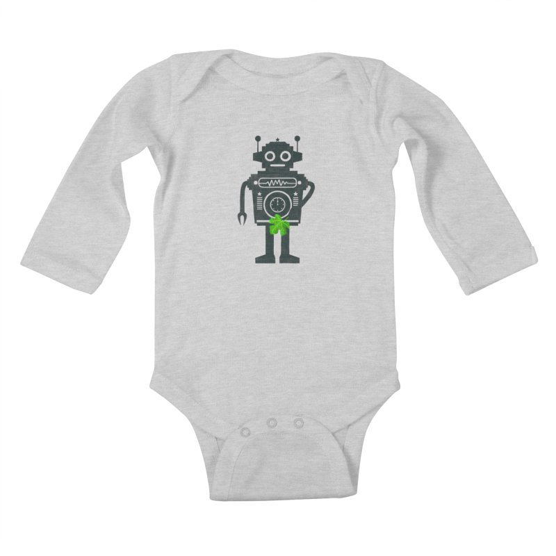 WEARING GREEN Kids Baby Longsleeve Bodysuit by YaaH