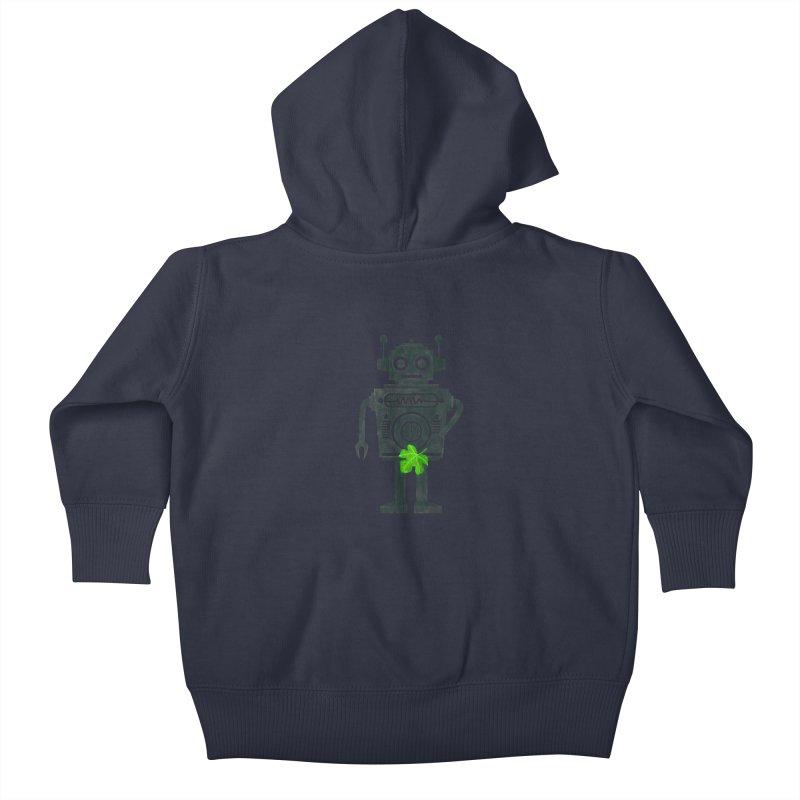 WEARING GREEN Kids Baby Zip-Up Hoody by YaaH
