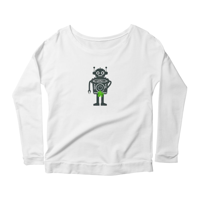 WEARING GREEN Women's Scoop Neck Longsleeve T-Shirt by YaaH