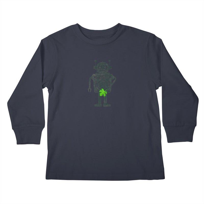 WEARING GREEN Kids Longsleeve T-Shirt by YaaH