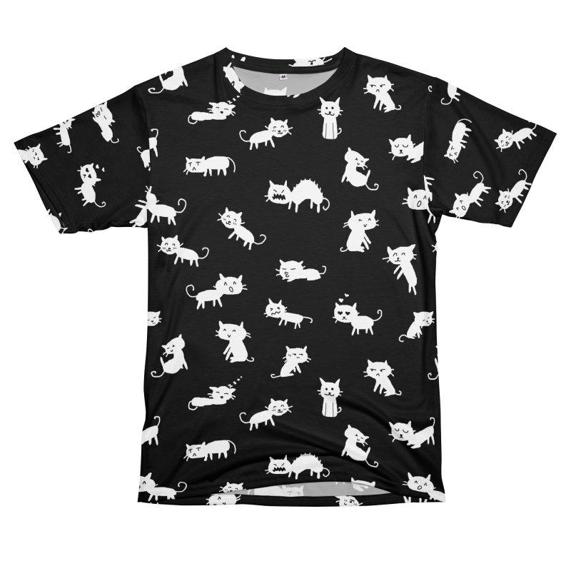Cat Emotions Men's T-Shirt Cut & Sew by YaaH