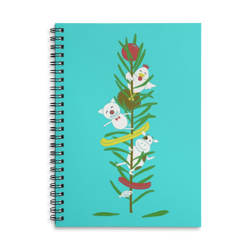 BBQ Accessories Lined Spiral Notebook by YaaH
