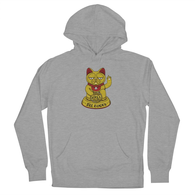 Lucky Cat Women's French Terry Pullover Hoody by YaaH