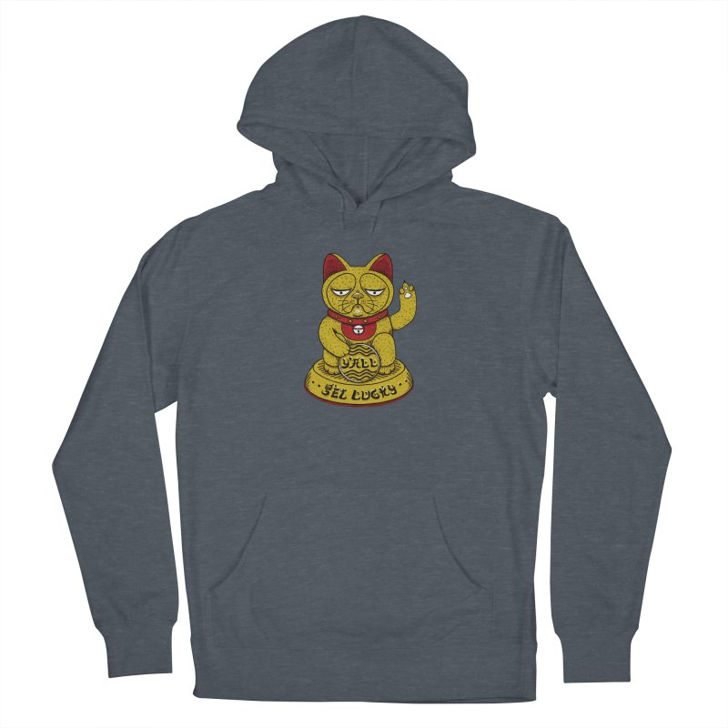 Lucky Cat Men's French Terry Pullover Hoody by YaaH