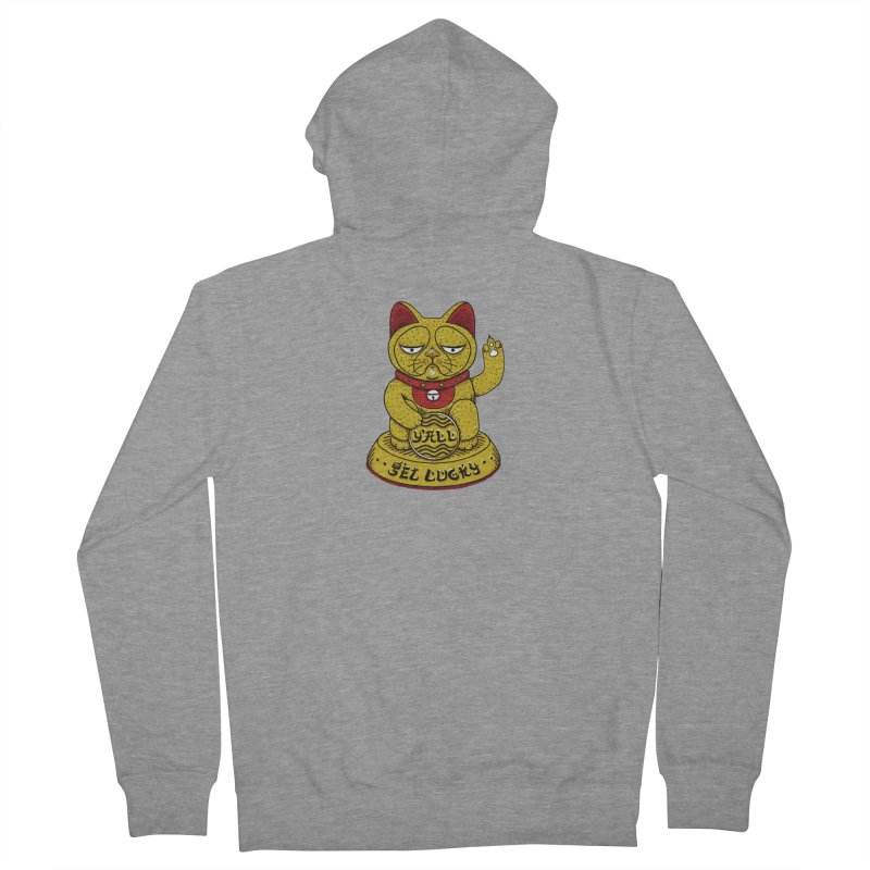 Lucky Cat Women's French Terry Zip-Up Hoody by YaaH
