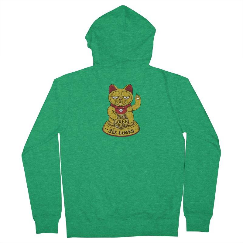 Lucky Cat Men's Zip-Up Hoody by YaaH
