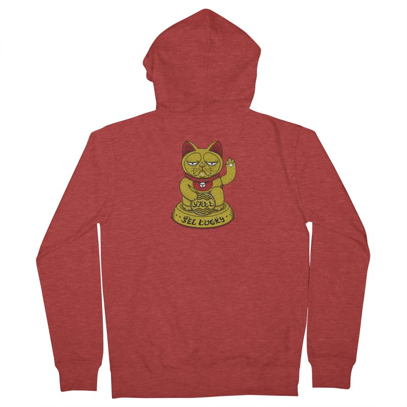 Lucky Cat Men's French Terry Zip-Up Hoody by YaaH