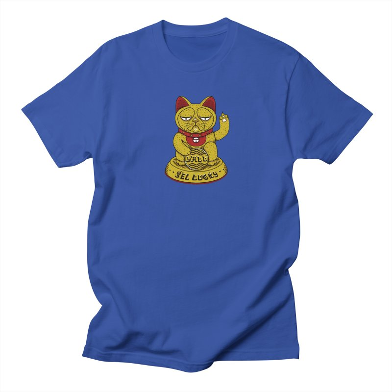 Lucky Cat Men's T-shirt by YaaH
