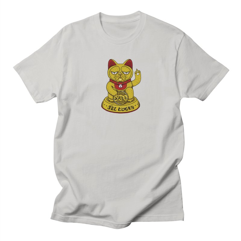 Lucky Cat Men's Regular T-Shirt by YaaH