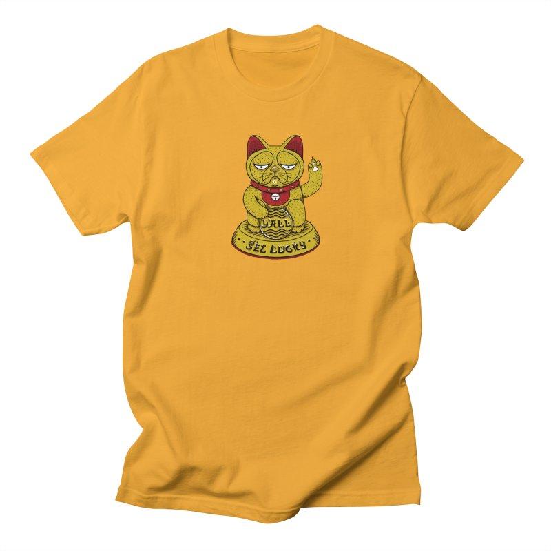 Lucky Cat Men's Regular T-Shirt by YaaH