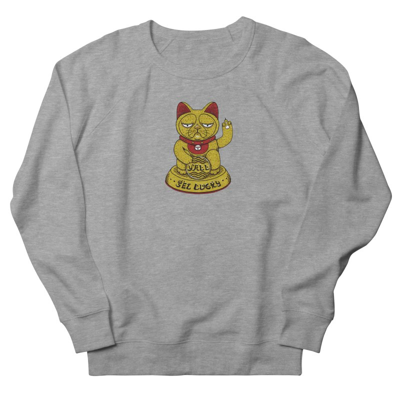 Lucky Cat Women's French Terry Sweatshirt by YaaH