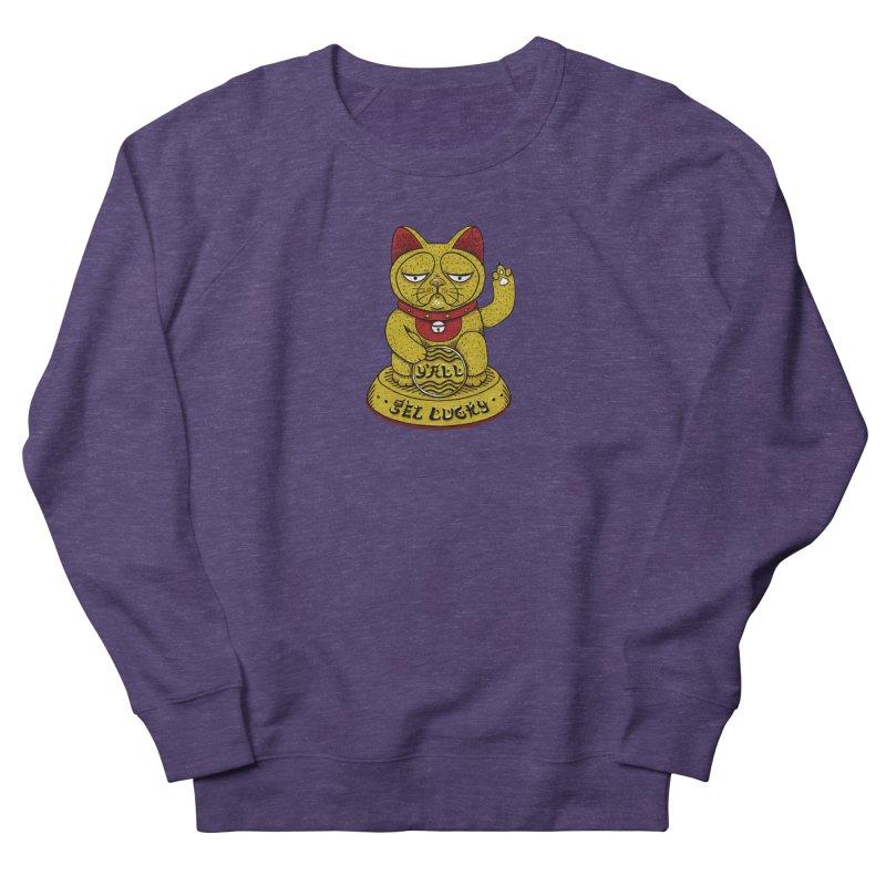 Lucky Cat Men's French Terry Sweatshirt by YaaH