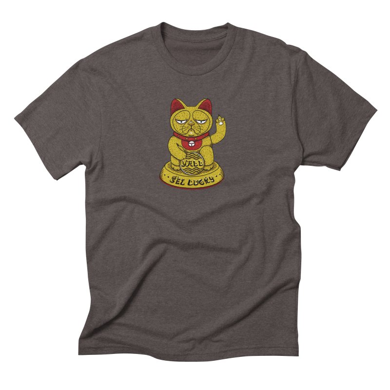 Lucky Cat Men's Triblend T-Shirt by YaaH