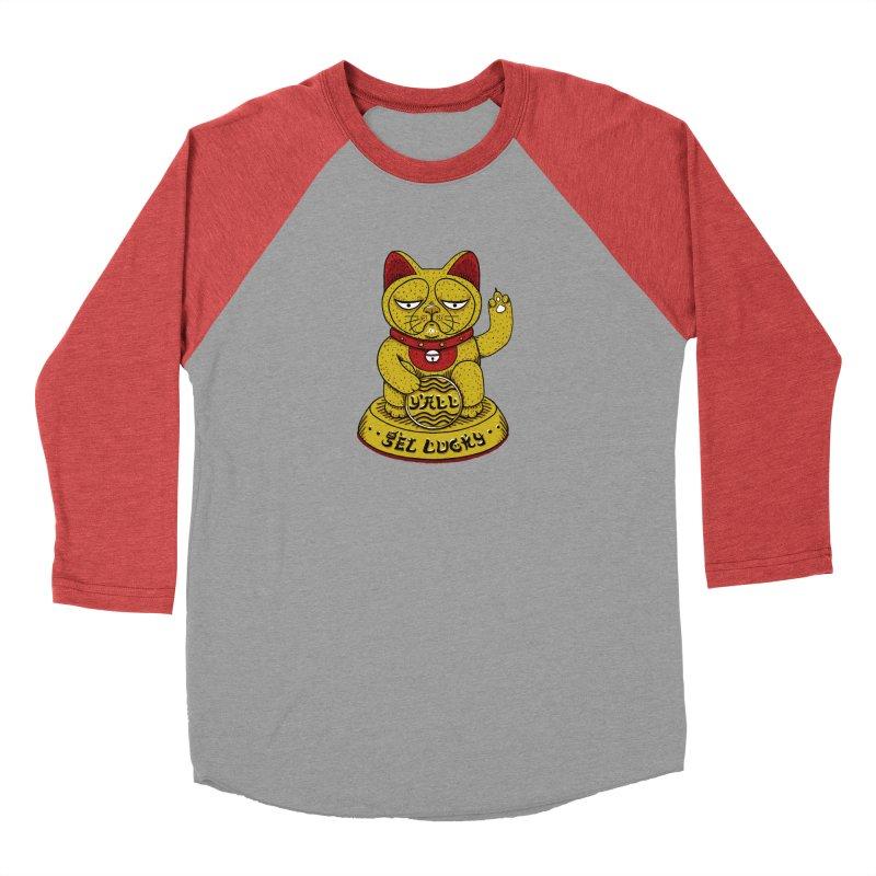 Lucky Cat Women's Baseball Triblend T-Shirt by YaaH