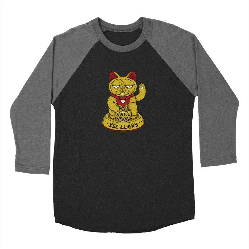 Lucky Cat Men's Baseball Triblend Longsleeve T-Shirt by YaaH