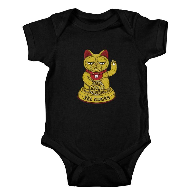 Lucky Cat Kids Baby Bodysuit by YaaH