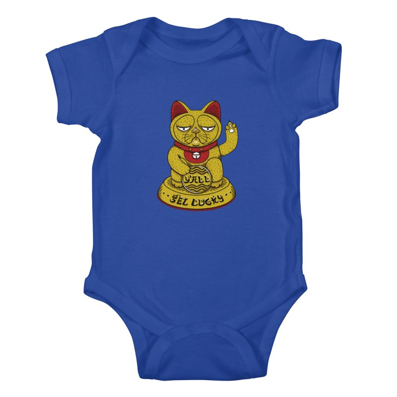Lucky Cat Kids Baby Bodysuit by YaaH