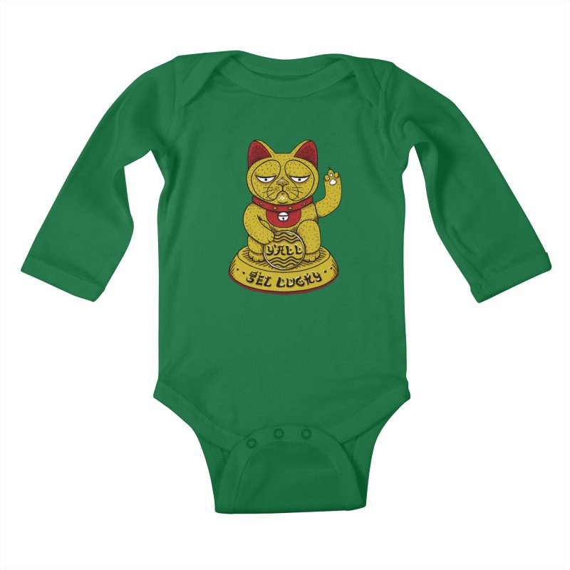 Lucky Cat Kids Baby Longsleeve Bodysuit by YaaH