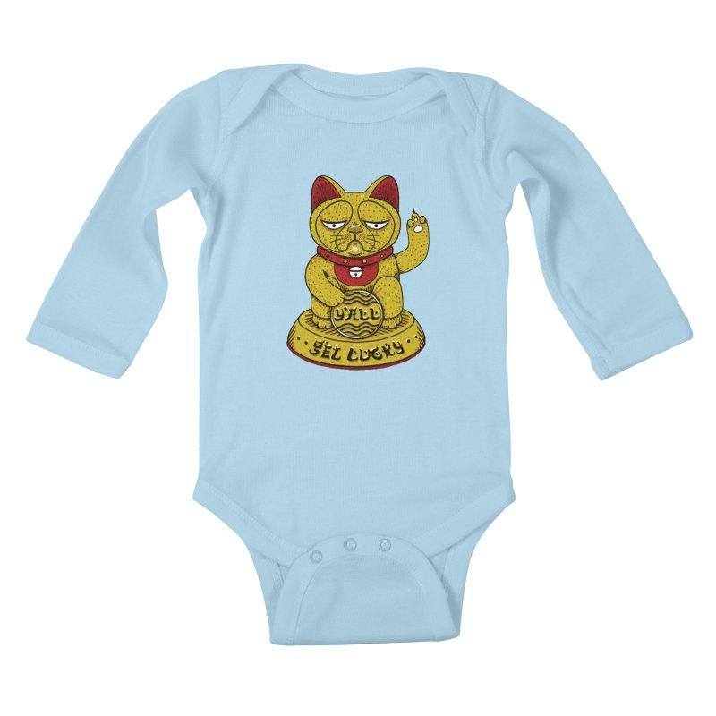 Lucky Cat Kids Baby Longsleeve Bodysuit by YaaH