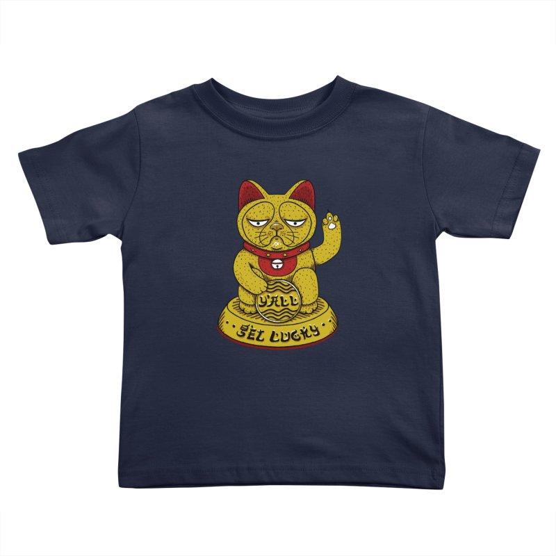 Lucky Cat Kids Toddler T-Shirt by YaaH