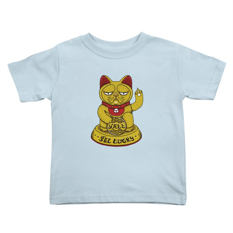 Lucky Cat Kids Toddler T-Shirt by YaaH