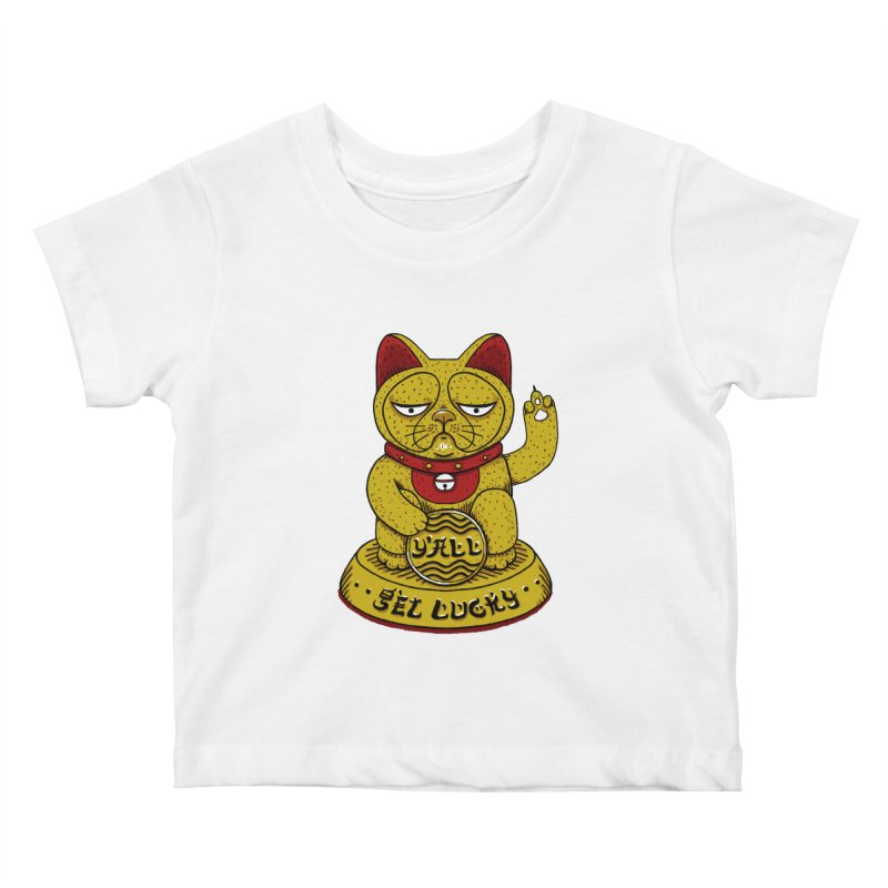Lucky Cat Kids Baby T-Shirt by YaaH