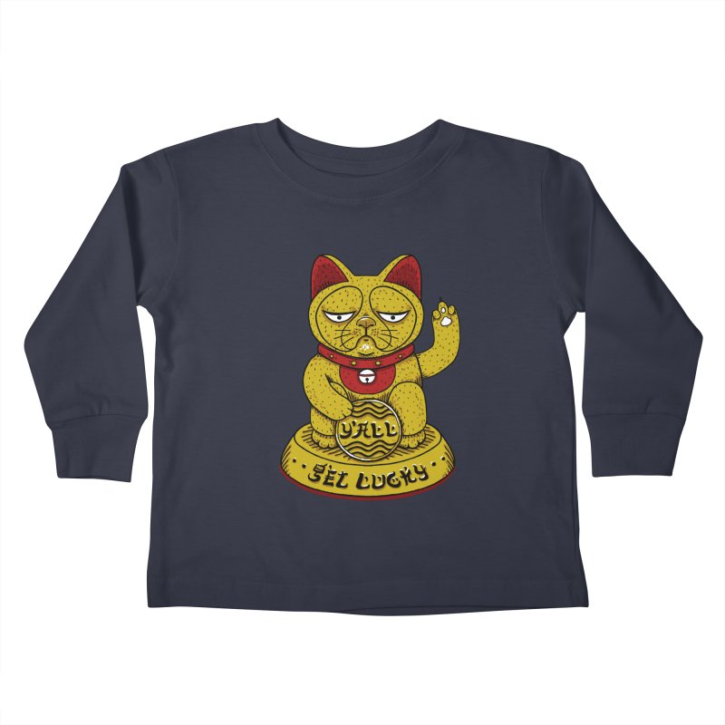 Lucky Cat Kids Toddler Longsleeve T-Shirt by YaaH
