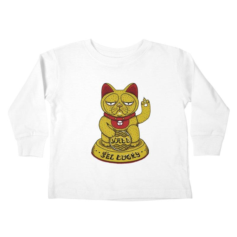 Lucky Cat Kids Toddler Longsleeve T-Shirt by YaaH