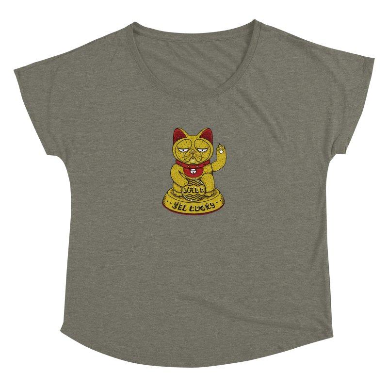 Lucky Cat Women's Dolman Scoop Neck by YaaH