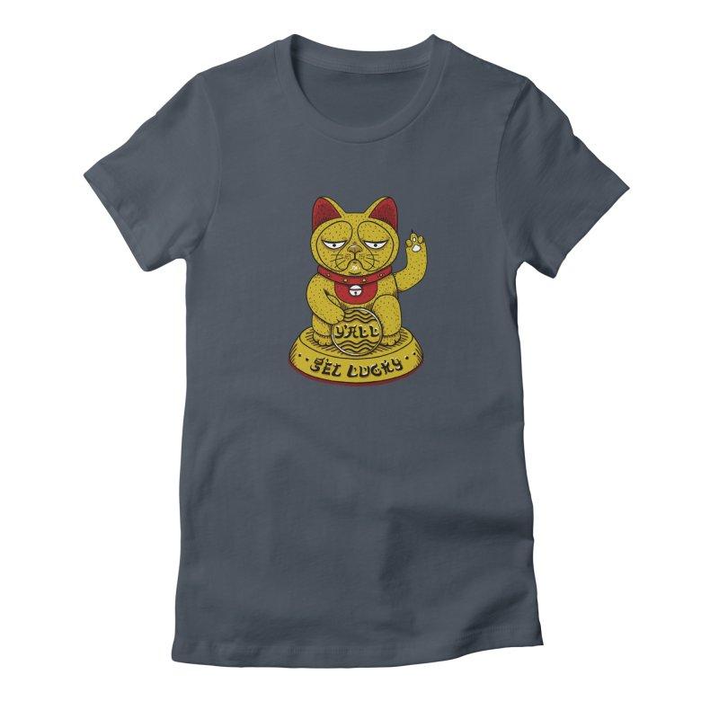 Lucky Cat Women's T-Shirt by YaaH