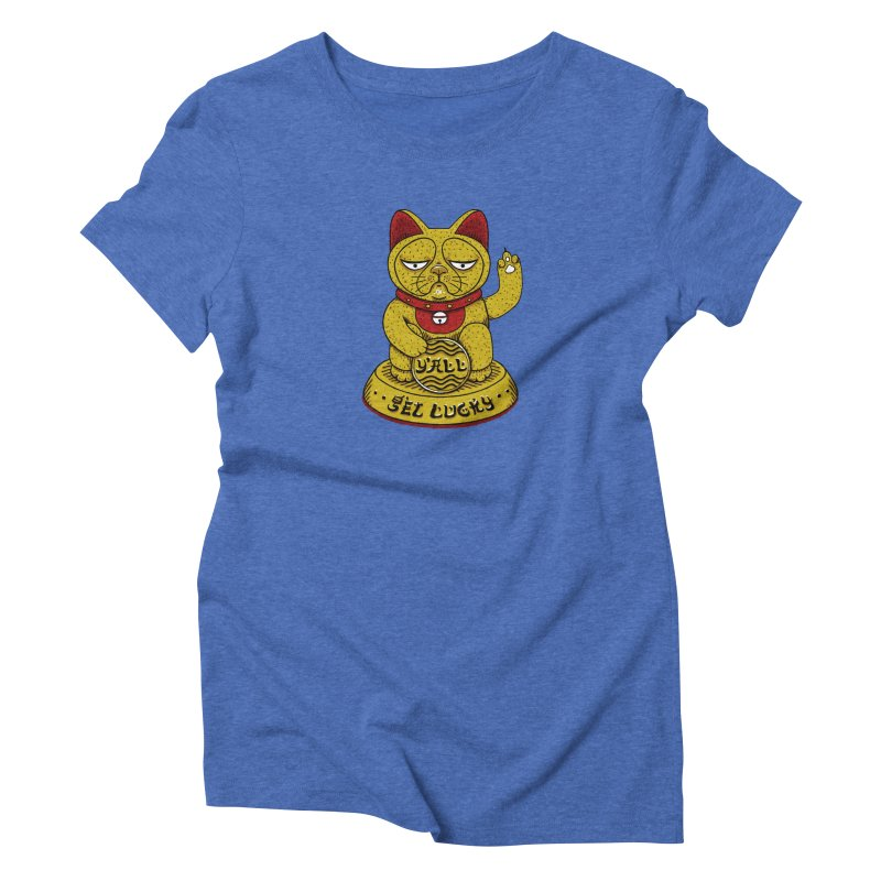 Lucky Cat Women's Triblend T-shirt by YaaH