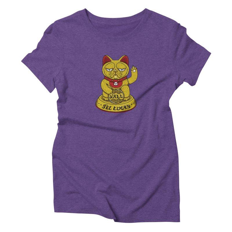 Lucky Cat Women's Triblend T-Shirt by YaaH