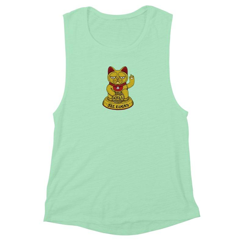 Lucky Cat Women's Muscle Tank by YaaH