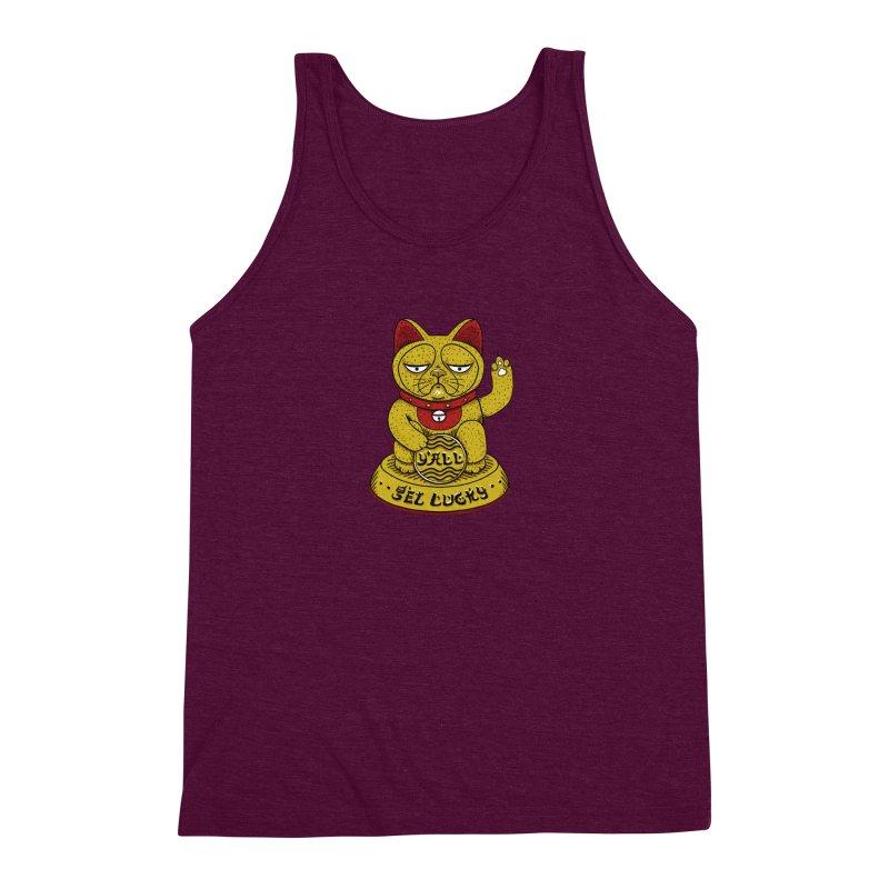 Lucky Cat Men's Triblend Tank by YaaH