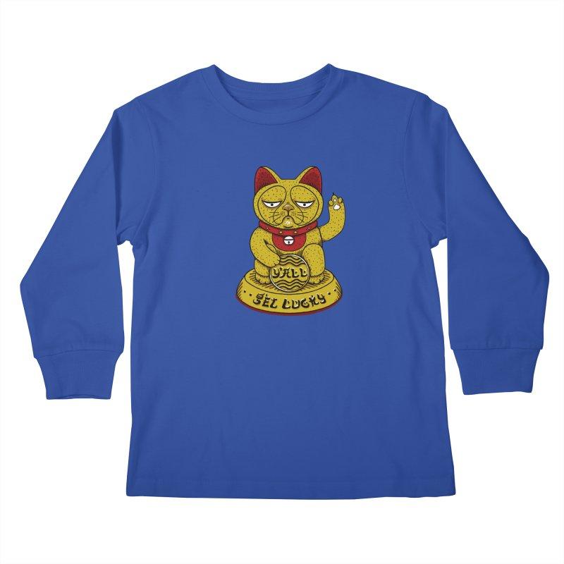 Lucky Cat Kids Longsleeve T-Shirt by YaaH