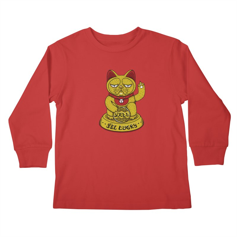Lucky Cat Kids Longsleeve T-Shirt by YaaH