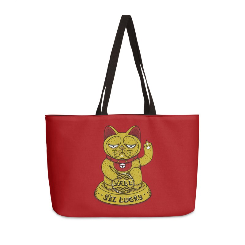 Lucky Cat Accessories Weekender Bag Bag by YaaH