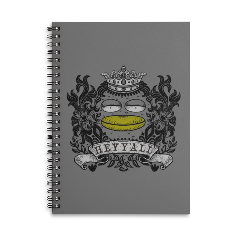 HEY Y'ALL Accessories Lined Spiral Notebook by YaaH