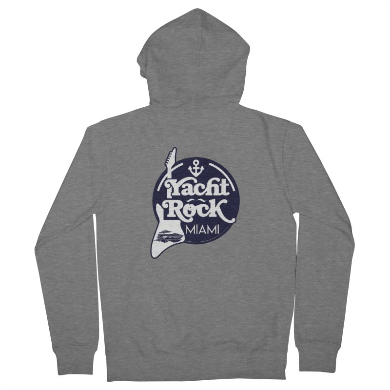Yacht Rock Miami Men's French Terry Zip-Up Hoody by yachtrockmiami's Artist Shop