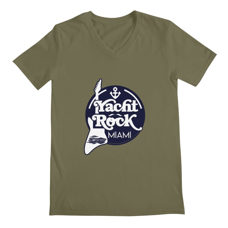 Yacht Rock Miami Men's Regular V-Neck by yachtrockmiami's Artist Shop