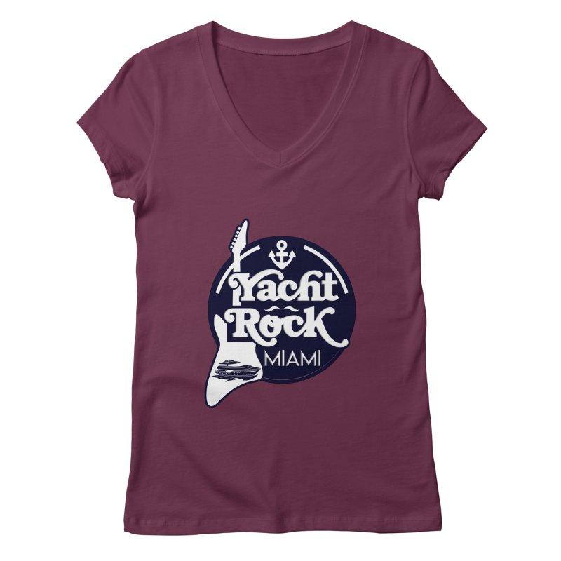 Yacht Rock Miami Women's Regular V-Neck by yachtrockmiami's Artist Shop