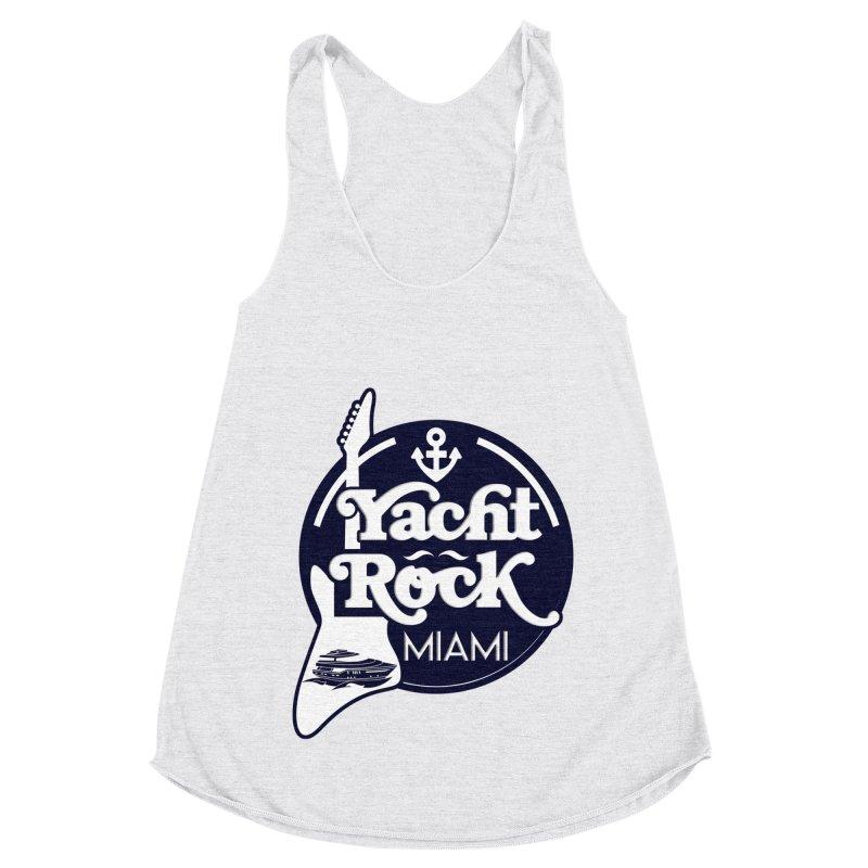 Yacht Rock Miami Women's Racerback Triblend Tank by yachtrockmiami's Artist Shop