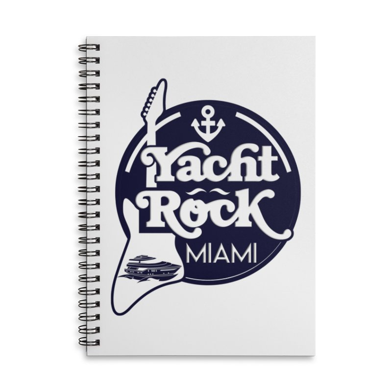 Yacht Rock Miami Accessories Lined Spiral Notebook by yachtrockmiami's Artist Shop