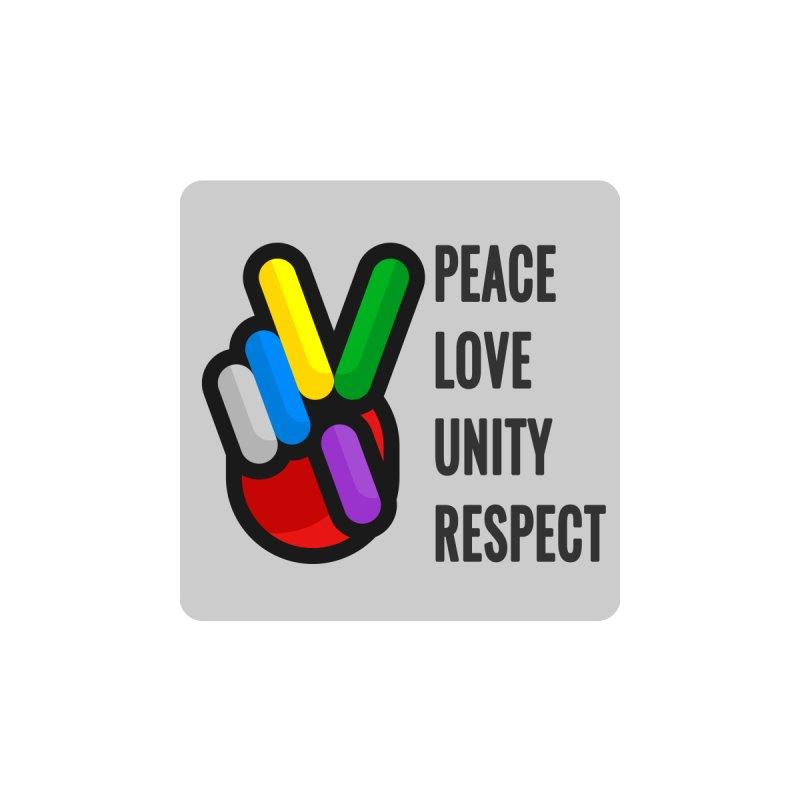 PEACE LOVE UNITY RESPECT Men's T-Shirt by yacubsuseno's Artist Shop