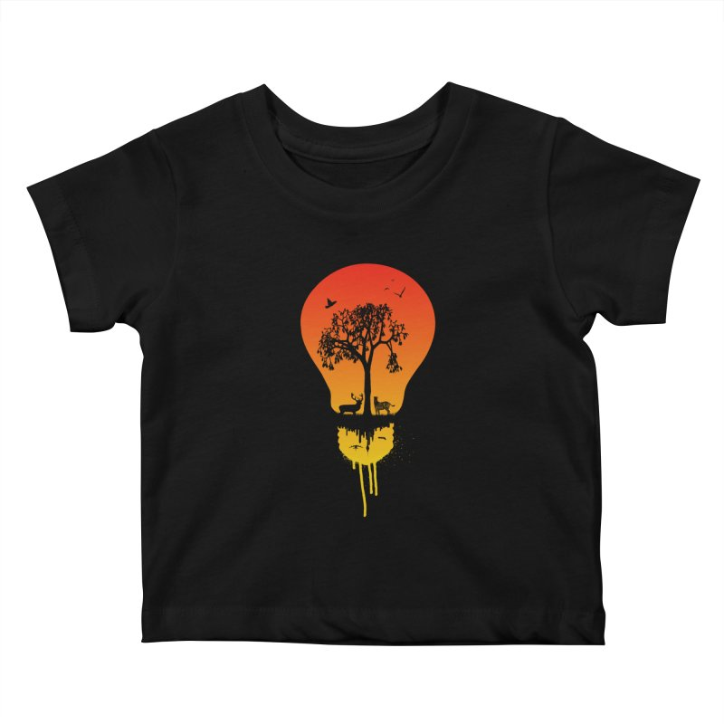The Two worlds Kids Baby T-Shirt by yakitoko's Artist Shop