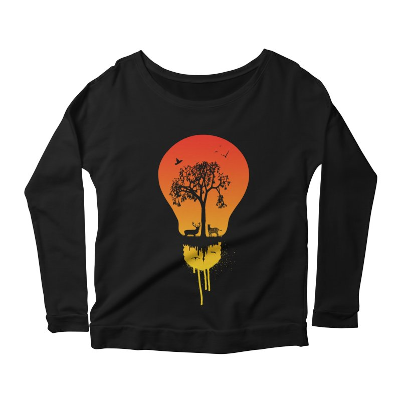 The Two worlds Women's Longsleeve Scoopneck  by yakitoko's Artist Shop