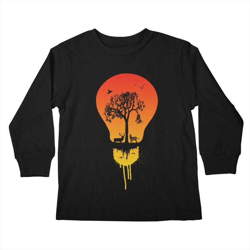 The Two worlds Kids Longsleeve T-Shirt by yakitoko's Artist Shop