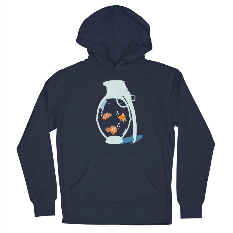 Fish Grenade Women's French Terry Pullover Hoody by yakitoko's Artist Shop