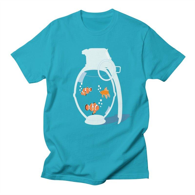 Fish Grenade Men's Regular T-Shirt by yakitoko's Artist Shop