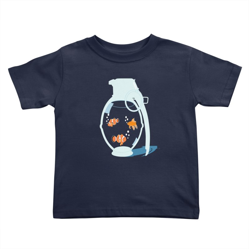 Fish Grenade Kids Toddler T-Shirt by yakitoko's Artist Shop
